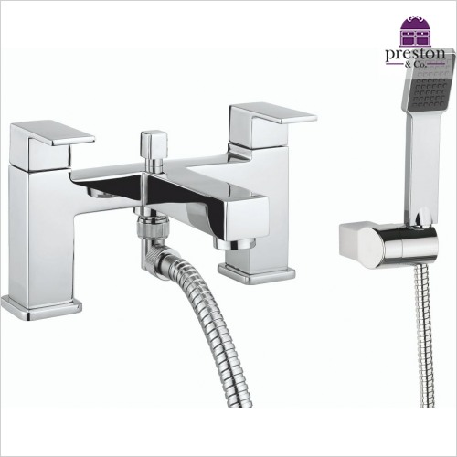 Crosswater - Quantum 2 Bath Shower Mixer Dual Lever With Kit Deck Mounted