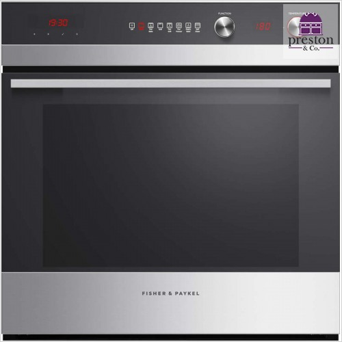 Fisher & Paykel - Built-In 600mm 7 Function Pyroclean Single Oven 112mm Fascia